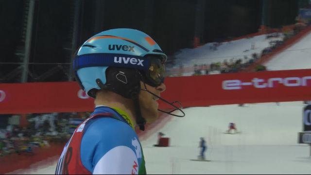 Madonna di Campiglio (ITA), slalom messieurs, 1re manche: Reto Schmidiger (SUI) pas qualifié pour la seconde manche [RTS]