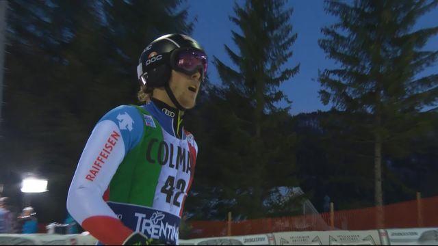 Madonna di Campiglio (ITA), slalom messieurs, 1re manche: Sandro Simonet (SUI) qualifié pour la seconde manche alors que Tanguy Nef (SUI) se rate et est éliminé [RTS]