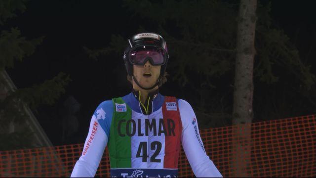 Madonna di Campiglio (ITA), slalom messieurs, 2e manche: Sandro Simonet (SUI) [RTS]