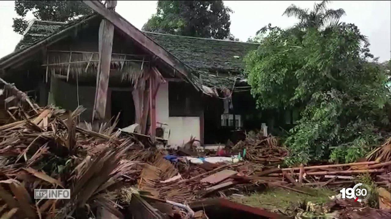 L'éruption du volcan Anak Krakatoa provoque un tsunami en Indonésie et fait 222 morts [RTS]