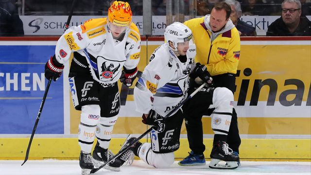 Le capitaine des Dragons avait dû abandonner la glace face à Zurich. [Patrick Straub - Freshfocus]