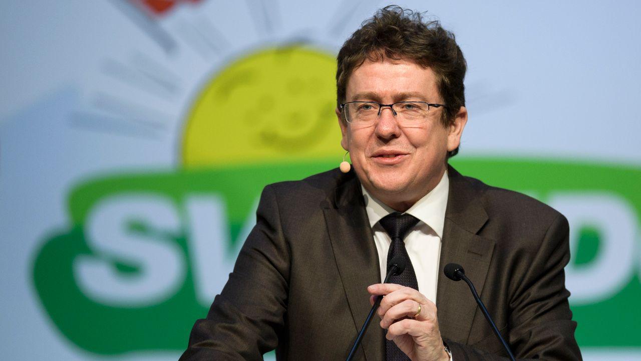 Albert Rösti, président du parti UDC. [Gian Ehrenzeller - Keystone]