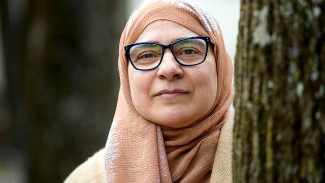 Sandrine Ruiz, présidente de l'Union vaudoise des associations musulmanes (UVAM). [Laurent Gilléron - Keystone]