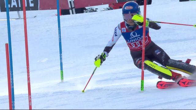 Semmering (AUT), slalom dames: Mikaela Shiffrin (USA) [RTS]