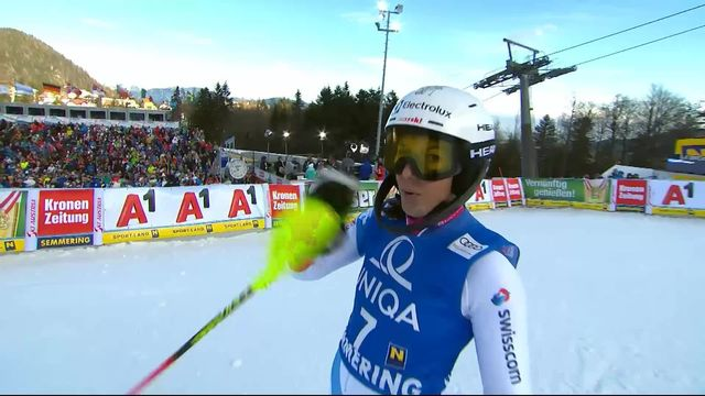 Semmering (AUT), slalom dames: Wendy Holdener (SUI) [RTS]