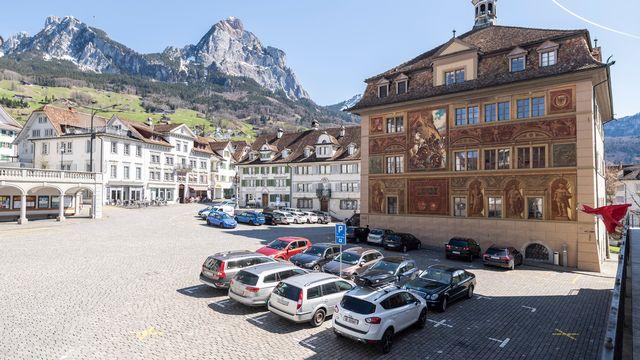 L'hôtel de ville de Schwyz (image d'illustration). [Ennio Leanza - Keystone]