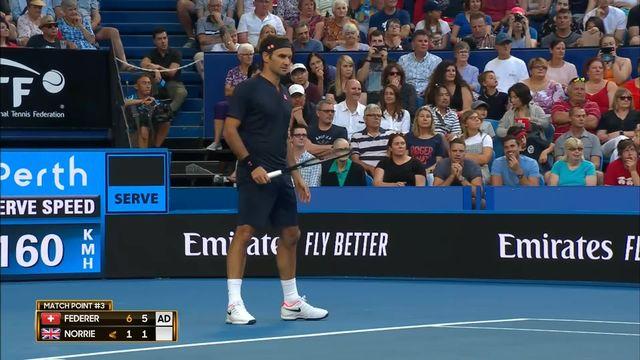 Hopman Cup, Angleterre - Suisse 1-6 1-6: Federer (SUI) s'impose aisément et offre le premier point à la Suisse [RTS]