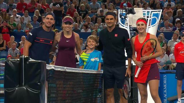 Hopman Cup, Angleterre - Suisse 3-4 1-4: Federer et Bencic (SUI) remportent leur double [RTS]