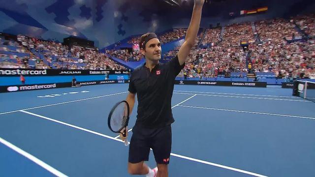 Hopman Cup, Suisse - USA 6-4 6-0: Roger Federer (SUI) s'impose facilement face à Tiafoe (USA) [RTS]
