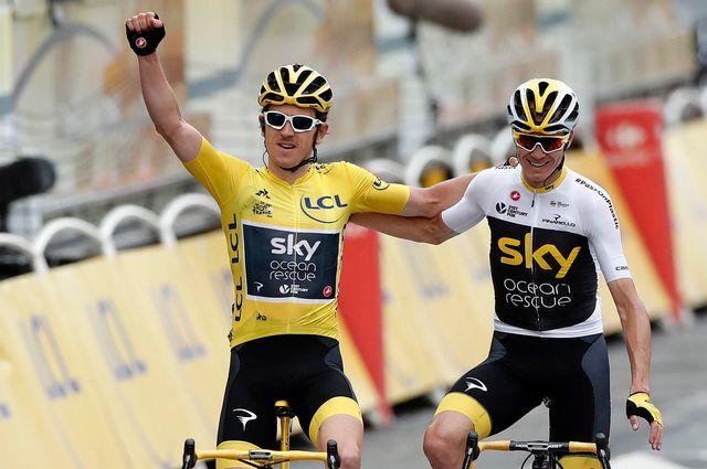 Thomas et Froome compte 5 victoires au Tour de France à eux deux. [Christophe Petit Tesson - Keystone]
