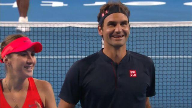 Hopman Cup, Suisse - USA 4-2 4-3: victoire de Federer (SUI) et Bencic (SUI) face aux Américains [RTS]
