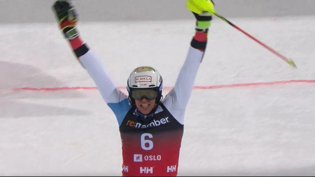 Oslo (NOR), slalom parallèles messieurs: Ramon Zenhaeusern (SUI) [RTS]