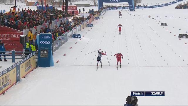 Oberstdorf (GER), 10km dames départ en ligne: victoire de Oestberg (NOR) [RTS]