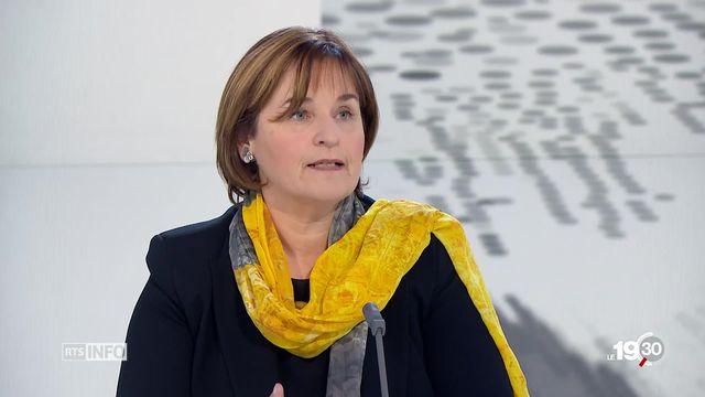 Marina Carobbio, Présidente du Conseil National, veut défendre la place des femmes en politique. Une des priorités de son mandat [RTS]