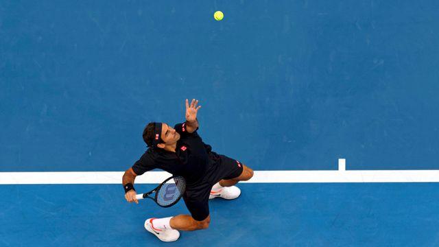 Federer n'a pas vraiment été inquiété par Tsitsipas. [Trevor Collens - Keystone]