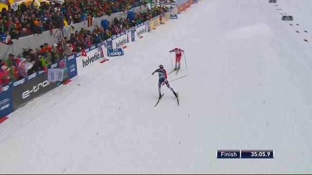 Oberstdorf (GER), 15km poursuite messieurs: victoire de Klaebo (NOR) devant Ustiugov (RUS). Cologna (SUI) 15ème [RTS]