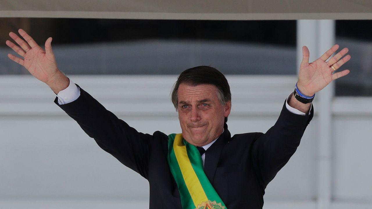 Pour son premier déplacement à l'étranger, Jair Bolsonaro se rendra à Davos. [Silvia Izquierdo - AP/Keystone]