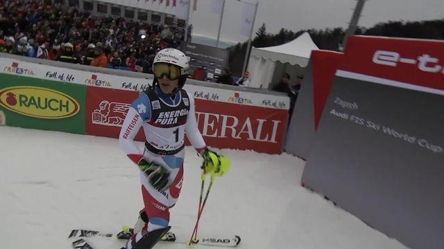 Zagreb (CRO), slalom dames, 1re manche: Wendy Holdener (SUI) [RTS]