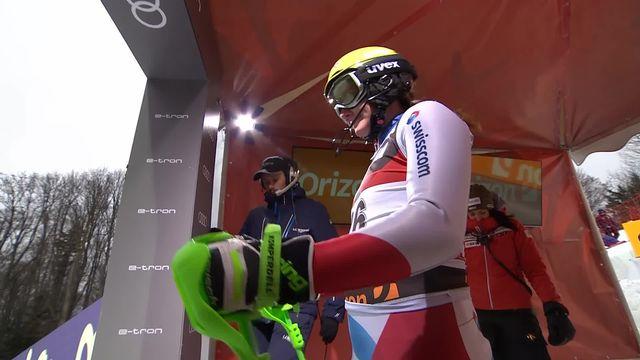 Zagreb (CRO), slalom dames, 1re manche: Carole Bissig (SUI) [RTS]