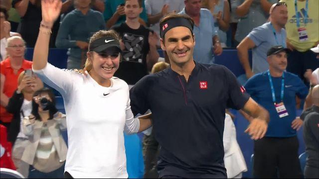 Hopman Cup, finale, Suisse – Allemagne 4-0 1-4 4-3: la paire Federer-Bencic s'impose au terme d'un match de folie! [RTS]