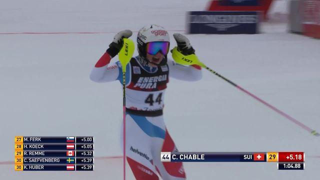 Zagreb (CRO), slalom dames, 1re manche: Charlotte Chable (SUI) [RTS]