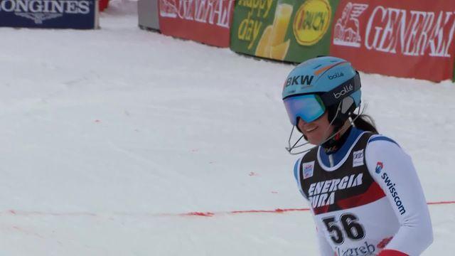 Zagreb (CRO), slalom dames, 1re manche: Elena Stoffel (SUI) [RTS]