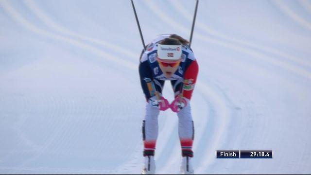 Val di Fiemme (ITA), 10km dames départ en ligne: victoire pour la Norvégienne Oestberg. Von Siebenthal (SUI) 20ème [RTS]