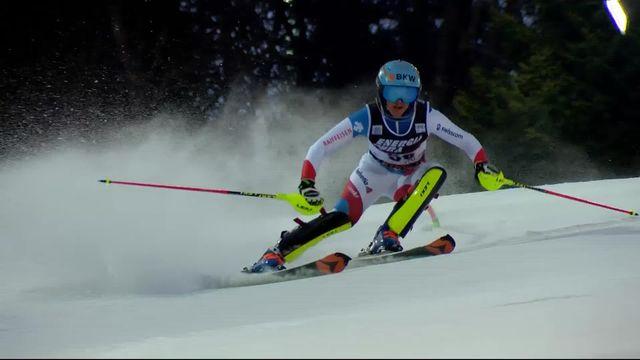 Zagreb (CRO), slalom dames, 2e manche: Elena Stoffel (SUI) [RTS]