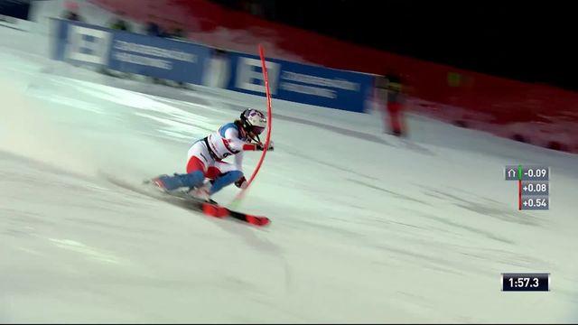 Zagreb (CRO), slalom dames, 2e manche: Michelle Gisin (SUI) [RTS]