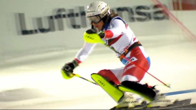 Zagreb (CRO), slalom dames, 2e manche: Wendy Holdener (SUI) [RTS]
