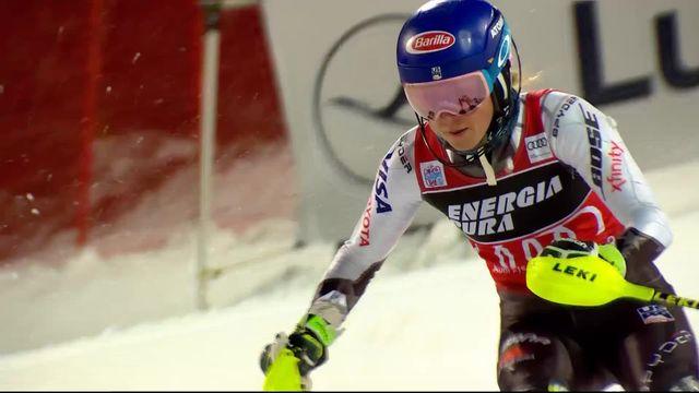Zagreb (CRO), slalom dames, 2e manche: Mikaela Shiffrin (USA) remporte une quatrième victoire à Zagreb! [RTS]