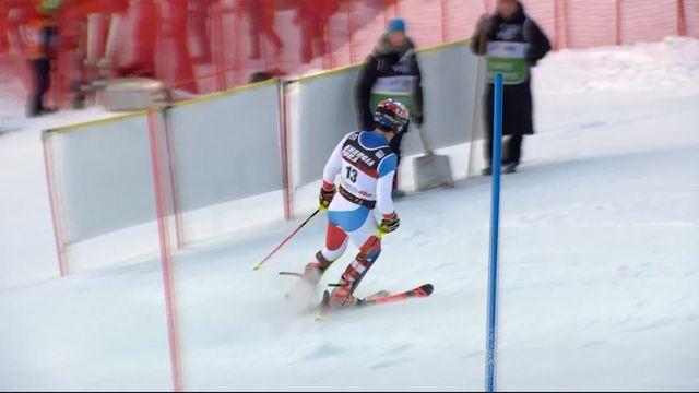 Zagreb (CRO), slalom messieurs: Loic Meillard (SUI) [RTS]
