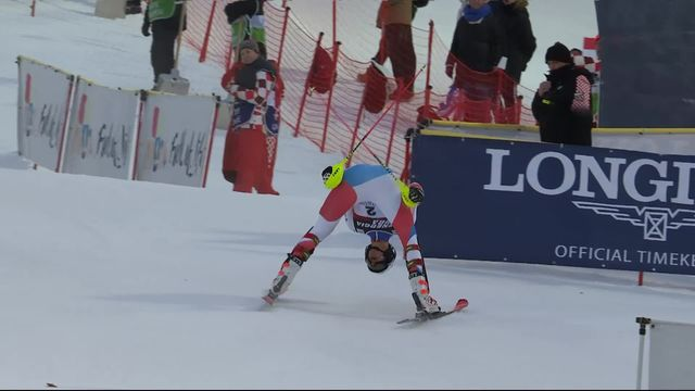 Zagreb (CRO), slalom messieurs: Ramon Zenhaeusern (SUI) [RTS]