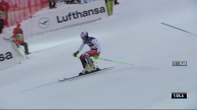 Zagreb (CRO), slalom messieurs: Luca Aerni (SUI) [RTS]