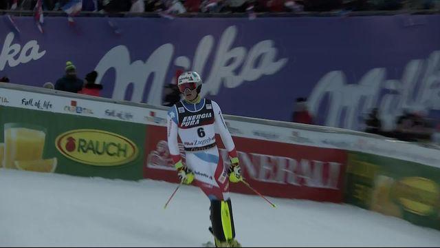 Zagreb (CRO), slalom messieurs: Daniel Yule (SUI) [RTS]