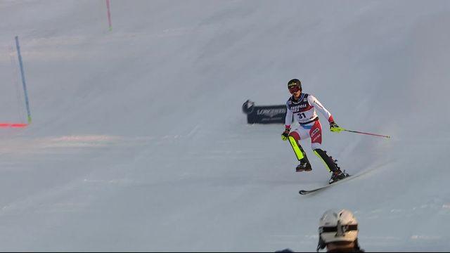 Zagreb (CRO), slalom messieurs: Marc Rochat (SUI) perd son ski et est éliminé [RTS]
