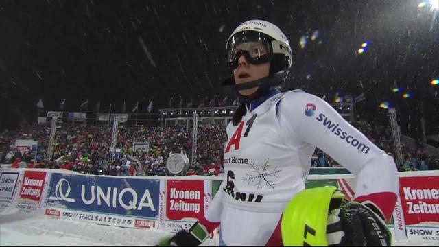 Flachau (AUT), slalom dames, 1re manche: Wendy Holdener (SUI) prend la 5e place provisoire [RTS]