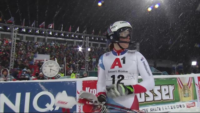 Flachau (AUT), slalom dames, 1re manche: Michelle Gisin (SUI) termine 8e provisoire [RTS]