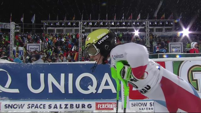 Flachau (AUT), slalom dames, 1re manche: Carole Bissig (SUI) termine 25e [RTS]