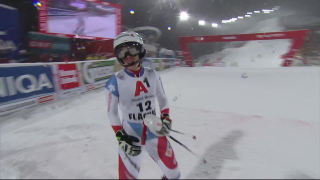 Flachau (AUT), slalom dames, 2e manche: le passage de Michelle Gisin (SUI) [RTS]