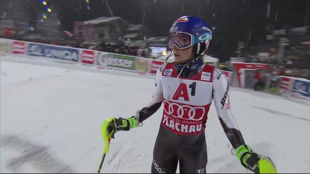 Flachau (AUT), slalom dames, 2e manche: Shiffrin (USA) termine 2e [RTS]