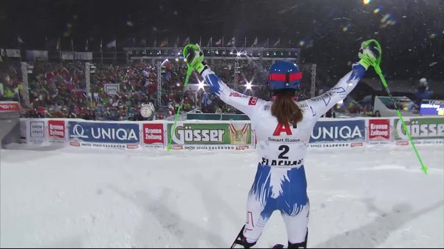 Flachau (AUT), slalom dames, 2e manche: Petra Vhlova s'impose devant Shiffrin [RTS]