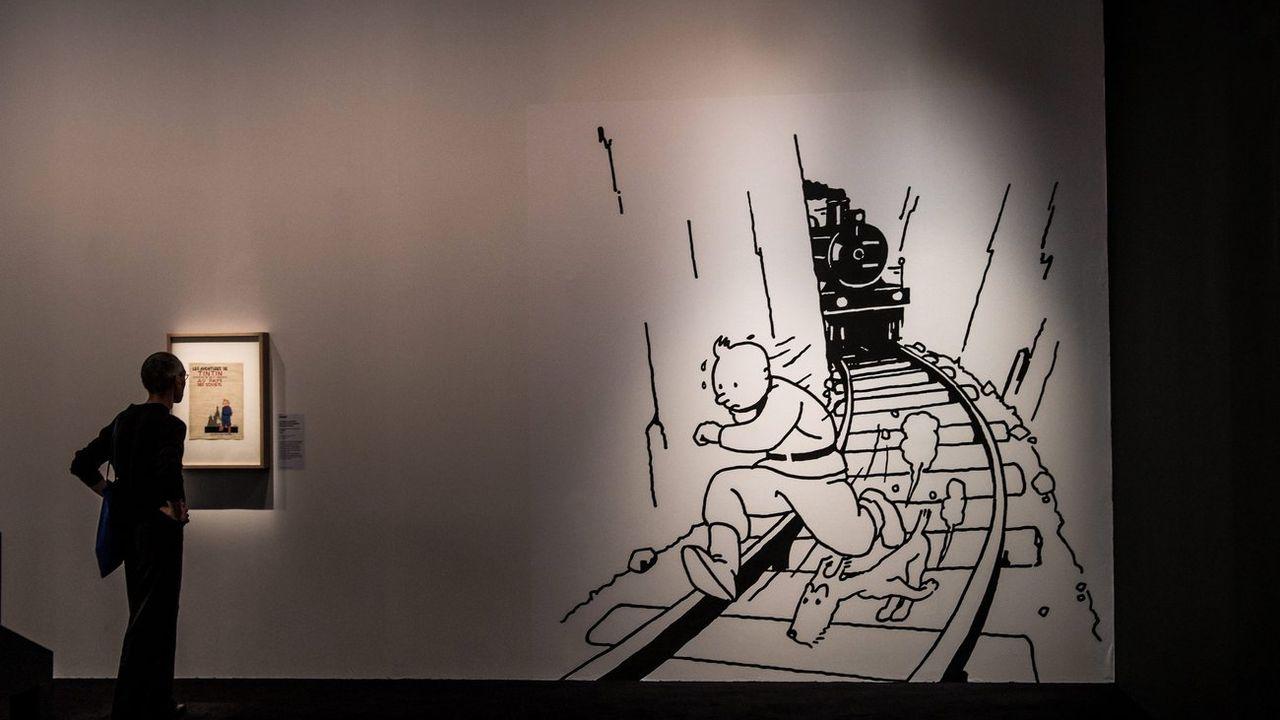 Une exposition consacrée à Hergé au Grand Palais à Paris, en septembre 2016. [Christophe Petit-Tessin - EPA]
