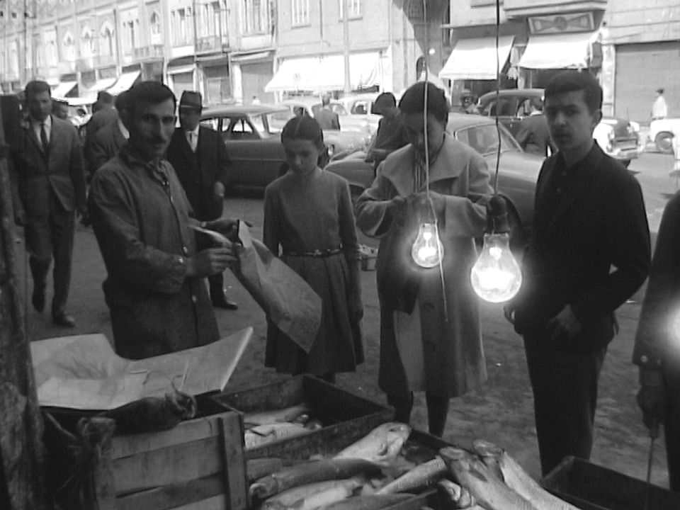Scène de rue à Téhéran en 1962. [RTS]