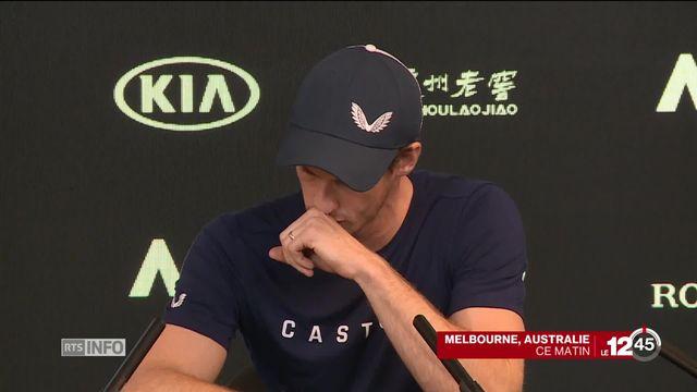 Tennis: Andy Murray a annoncé en larmes sa retraite pour cette année à cause de sa hanche qui le fait toujours souffrir. [RTS]