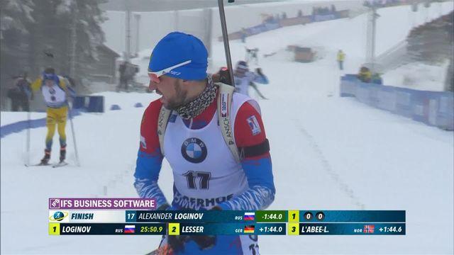 Oberhof (GER), sprint messieurs: victoire d'Alexander Loginov (RUS) devant Boe (NOR) et Samuelsson (SWE) [RTS]