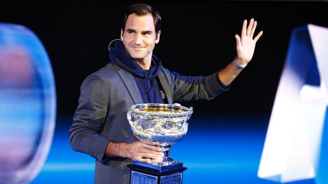 "Roger Federer entamera la défense de son titre en ""night session"". [Daniel Pockett - Keystone]"