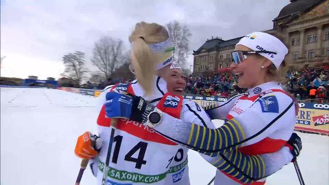 Dresde (GER), sprint dames: Nadine Fähndrich (SUI) 4ème derrière un podium 100% suédois. Stina Nilsson s'impose [RTS]