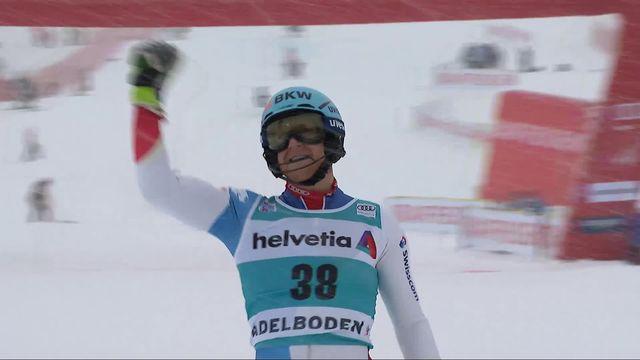 Adelboden (SUI), slalom messieurs 1re manche: Reto Schmidiger (SUI) [RTS]