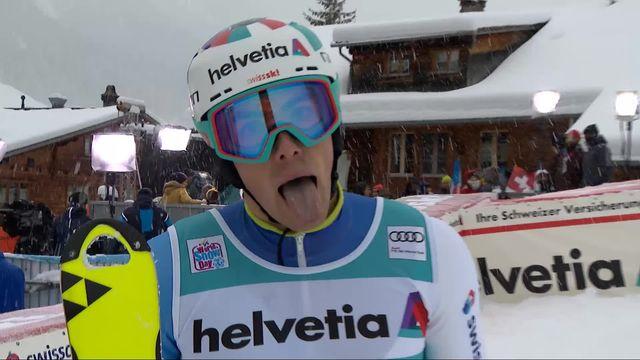Adelboden (SUI), slalom messieurs 1re manche: Daniel Yule (SUI) [RTS]